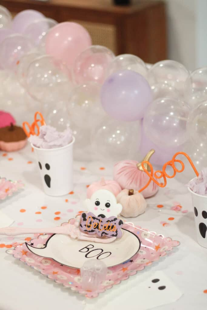 Kids Halloween Party tablescape