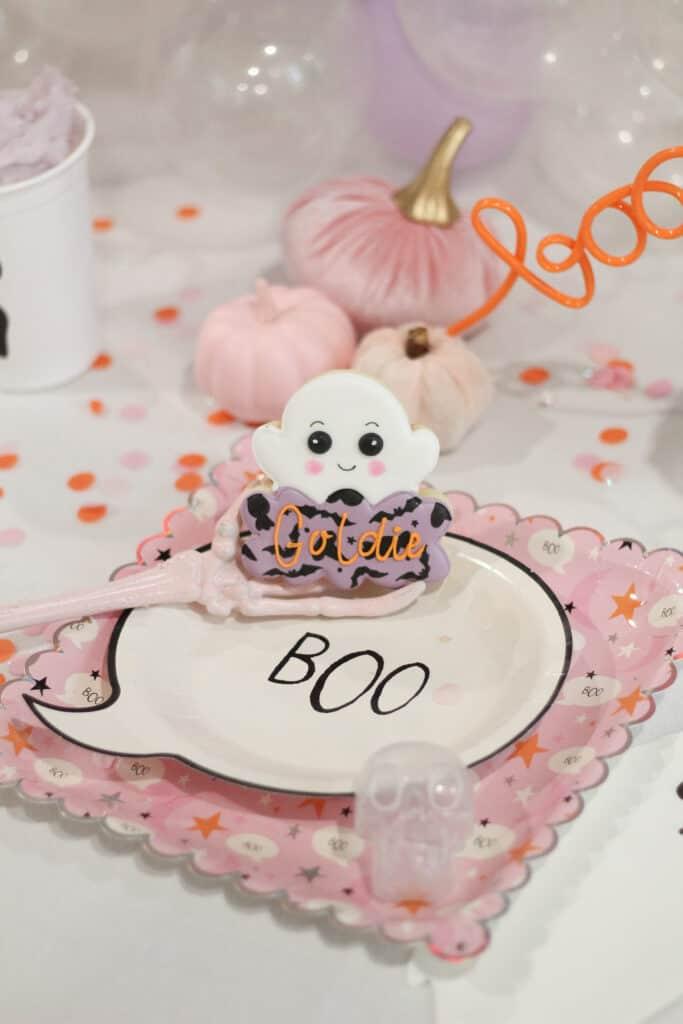 pink Halloween Plate